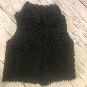 Missimo cardigan vest with pockets sz L wool blend